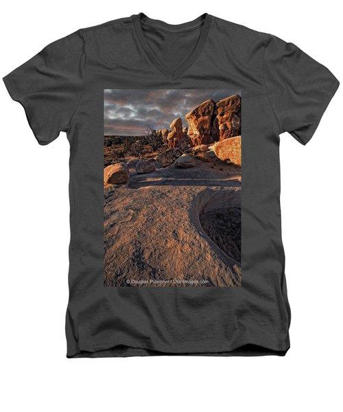 Escalante Desert Sunset Men's V-Neck T-Shirt