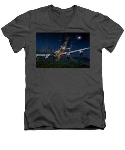 Escape At Mailly Men's V-Neck T-Shirt