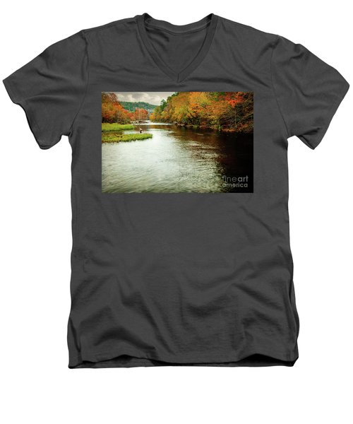 Escape To Beaver's Bend Men's V-Neck T-Shirt by Tamyra Ayles