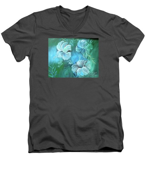 Escape To Serenity Men's V-Neck T-Shirt by Jenny Lee