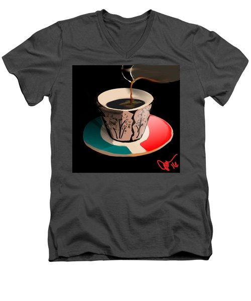 Espresso Men's V-Neck T-Shirt