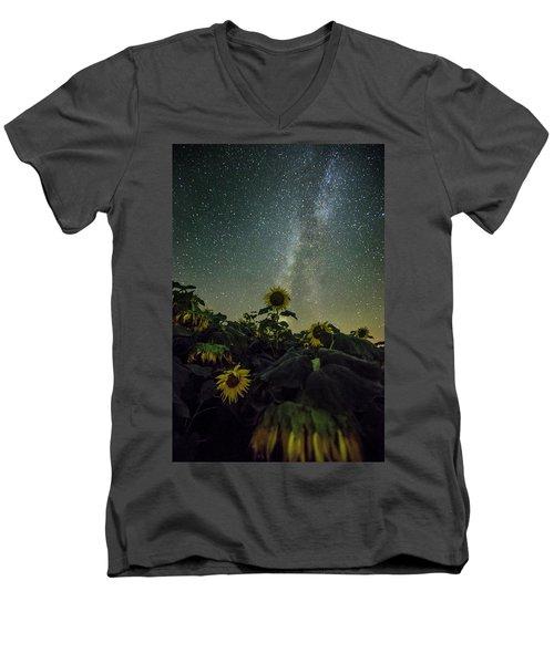 Estelline Men's V-Neck T-Shirt by Aaron J Groen