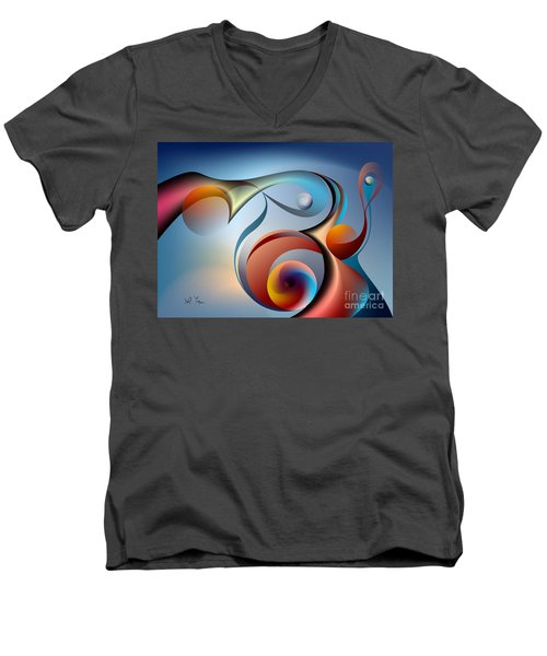 Eternal Movement - Wrapping Men's V-Neck T-Shirt by Leo Symon
