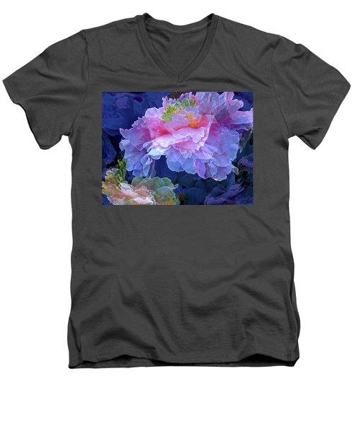 Ethereal 10 Men's V-Neck T-Shirt by Lynda Lehmann