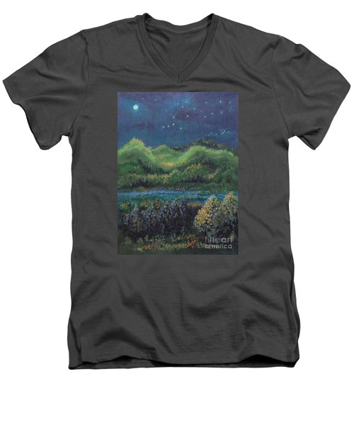 Ethereal Reality Men's V-Neck T-Shirt by Holly Carmichael