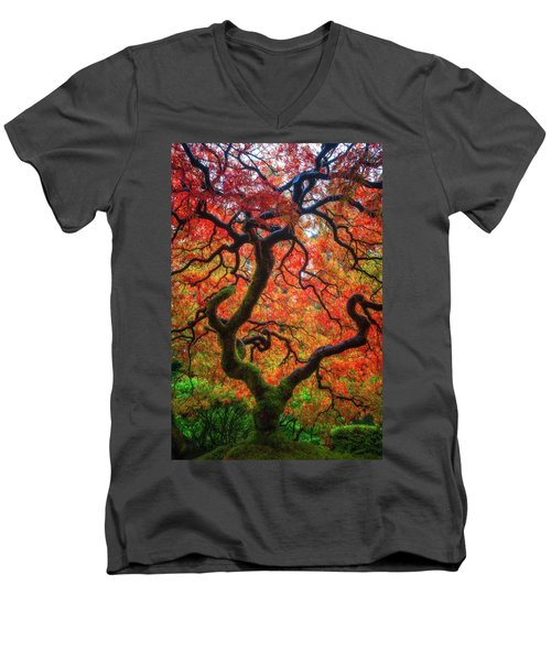 Men's V-Neck T-Shirt featuring the photograph Ethereal Tree Alive by Darren White