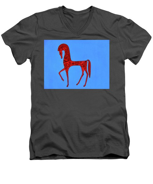 Etruscan Horse #2 Men's V-Neck T-Shirt
