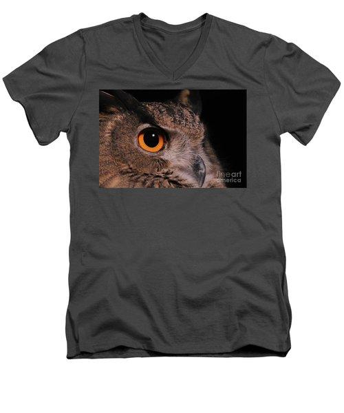 Eurasian Eagle-owl #3 Men's V-Neck T-Shirt