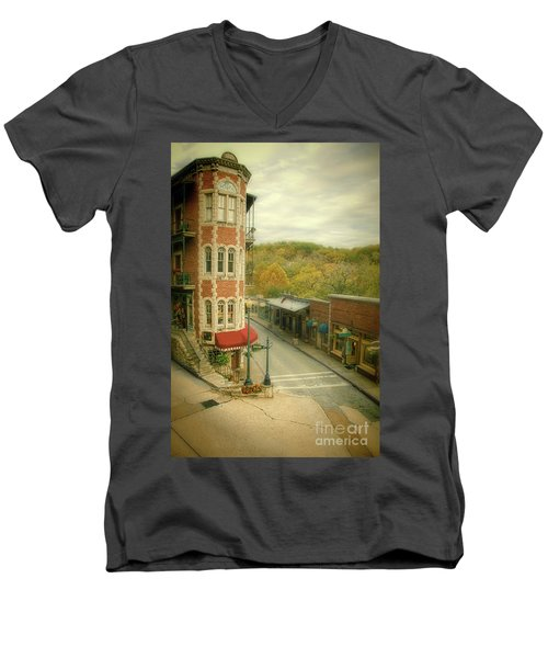 Men's V-Neck T-Shirt featuring the photograph Eureka Springs by Jill Battaglia