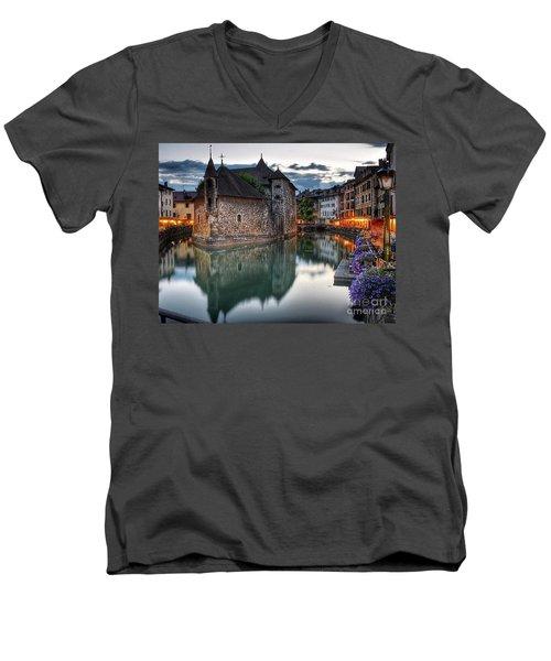 European Beauty 2 Men's V-Neck T-Shirt by Rod Jellison