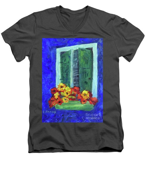 European Window Box Men's V-Neck T-Shirt