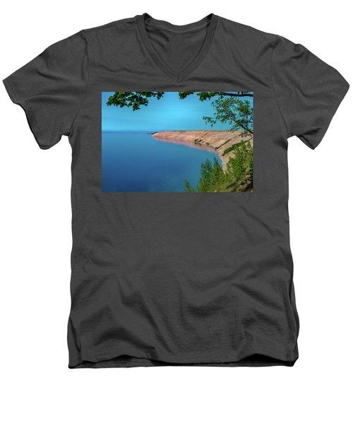 Eveing Light On Grand Sable Banks Men's V-Neck T-Shirt