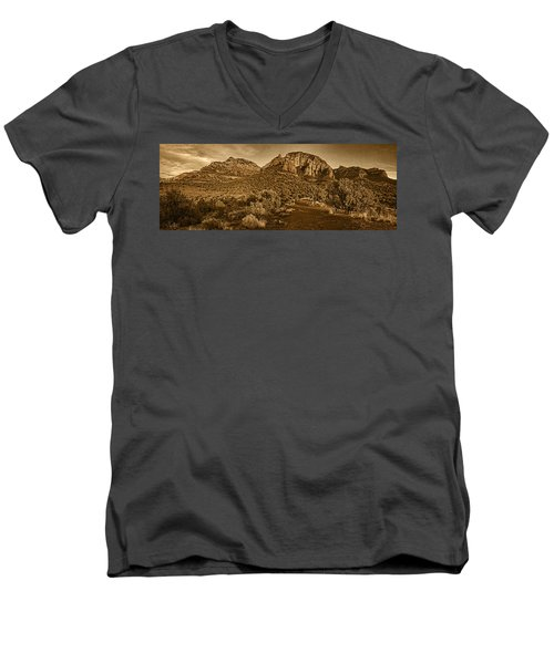 Evening At Dry Creek Vista Tnt Men's V-Neck T-Shirt