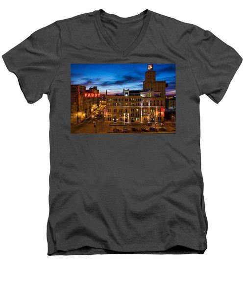 Evening At Pabst Men's V-Neck T-Shirt