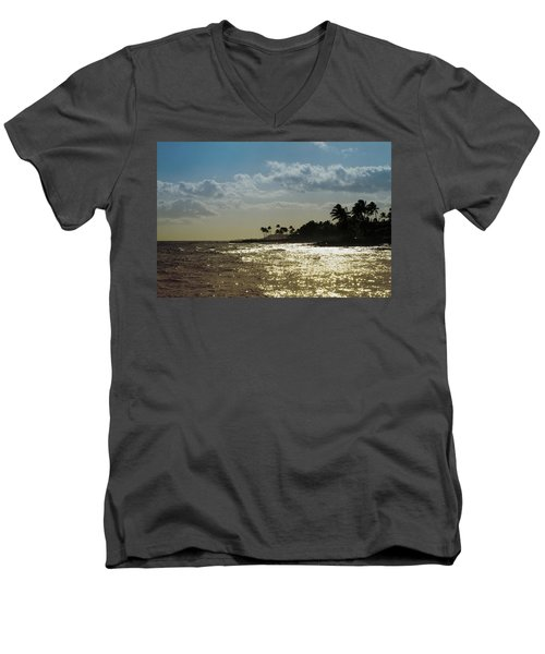 Evening At Poipiu Kauai Men's V-Neck T-Shirt