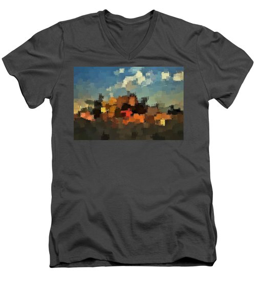 Evening At The Farm Men's V-Neck T-Shirt