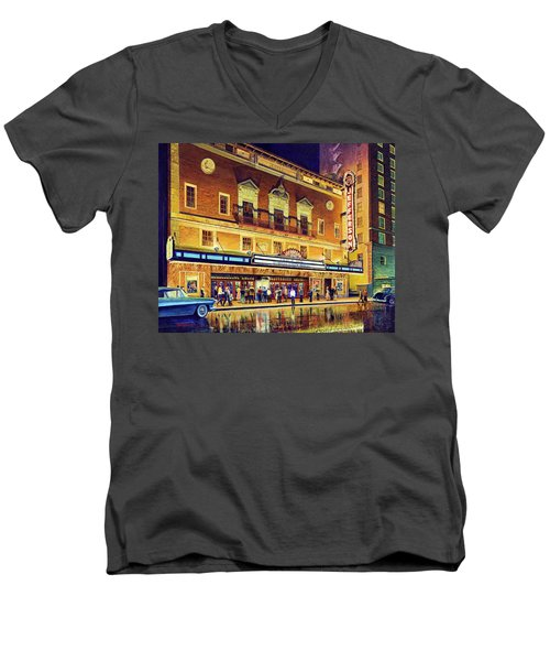 Evening At The Jefferson Men's V-Neck T-Shirt