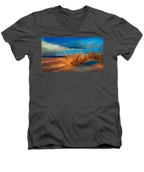 Evening Beach Dunes Men's V-Neck T-Shirt by Anthony Fishburne