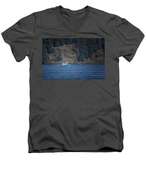 Evening Breeze Men's V-Neck T-Shirt by Randy Hall