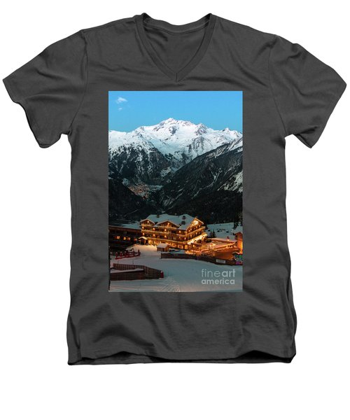 Evening Comes In Courchevel Men's V-Neck T-Shirt