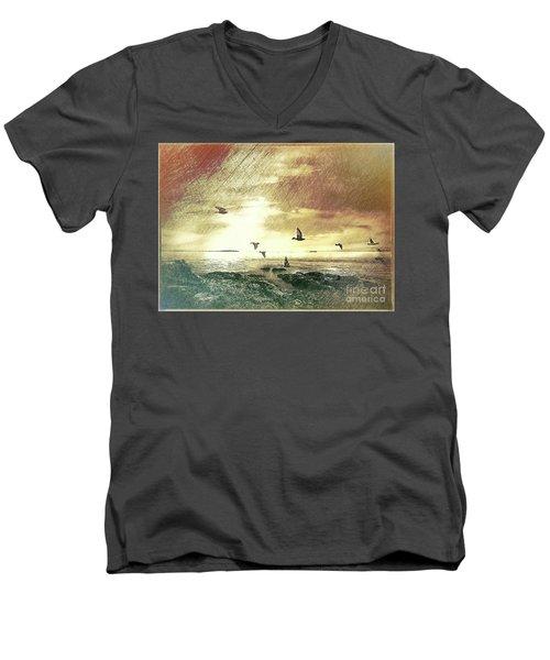 Evening Flight Men's V-Neck T-Shirt