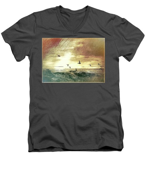 Evening Flight Men's V-Neck T-Shirt