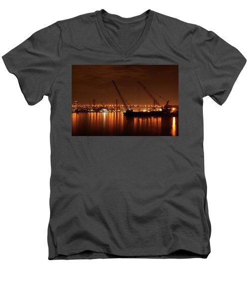 Evening Illumination Men's V-Neck T-Shirt