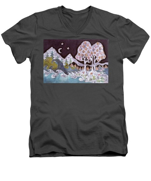 Evening In A Gentle Place Men's V-Neck T-Shirt