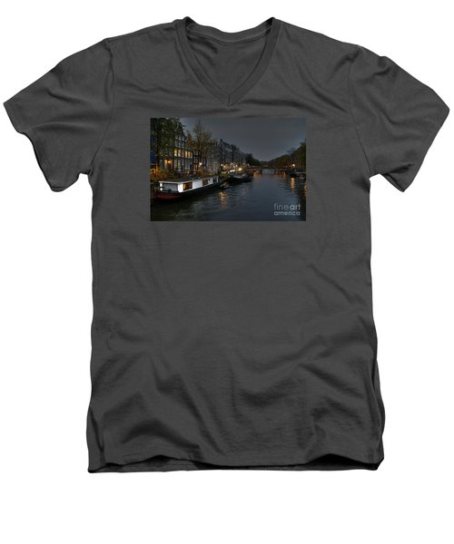Evening In Amsterdam Men's V-Neck T-Shirt