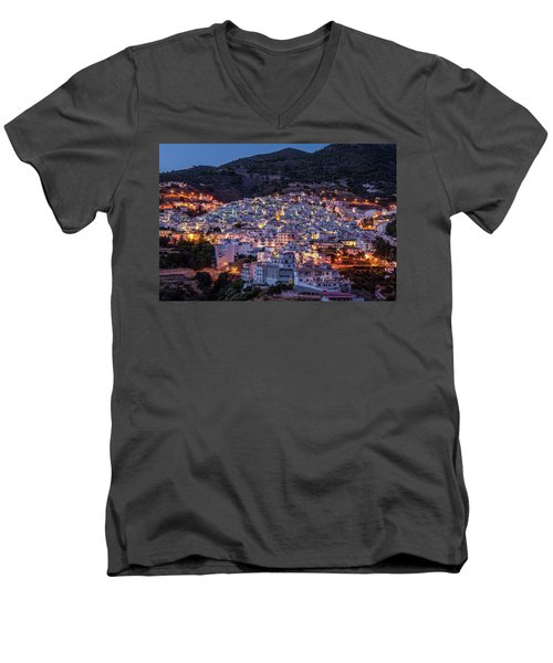 Evening In Competa Men's V-Neck T-Shirt