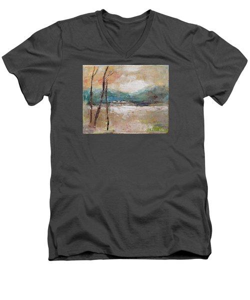Evening In Fall Men's V-Neck T-Shirt