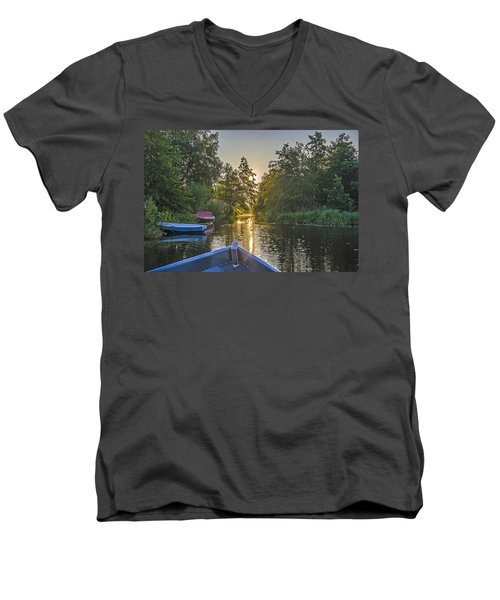 Evening In Loosdrecht Men's V-Neck T-Shirt