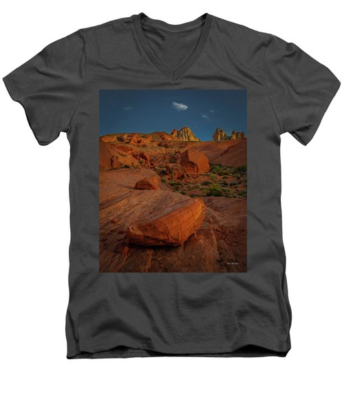 Evening In The Valley Of Fire Men's V-Neck T-Shirt
