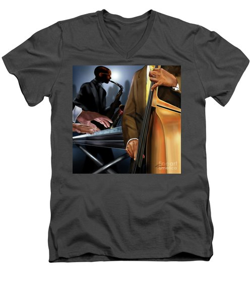 Evening Jazz Crowd Pleaser Men's V-Neck T-Shirt