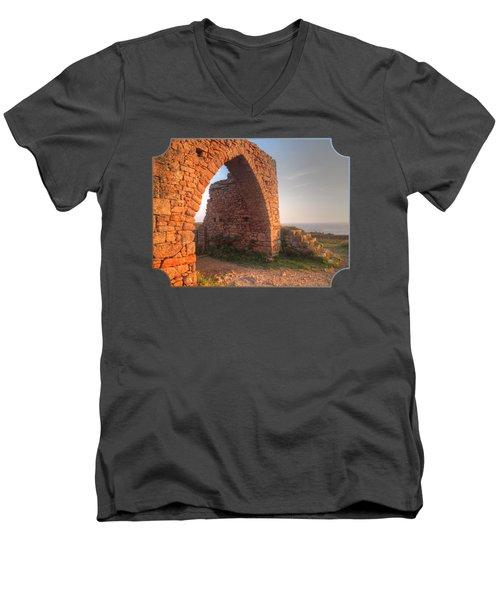 Evening Light On Grosnez Castle Ruins Jersey Men's V-Neck T-Shirt