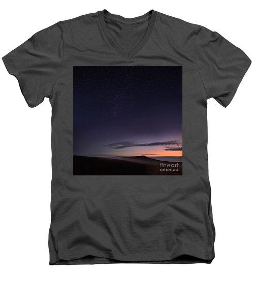 Evening Mist Rising On The Cronk Men's V-Neck T-Shirt