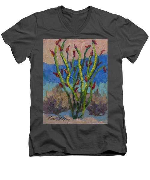 Evening Ocotillo Men's V-Neck T-Shirt by Diane McClary