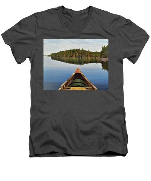 Evening Paddle  Men's V-Neck T-Shirt