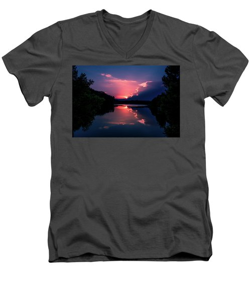 Evening Reflection Men's V-Neck T-Shirt