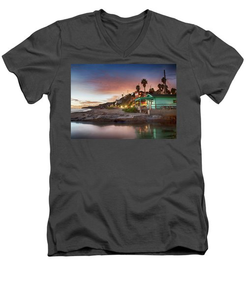 Evening Reflections, Crystal Cove Men's V-Neck T-Shirt