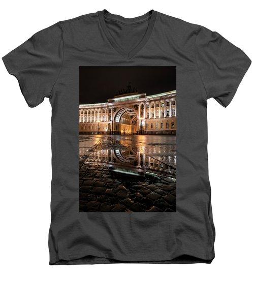 Evening Reflections Men's V-Neck T-Shirt