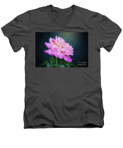 Evening Rose Men's V-Neck T-Shirt