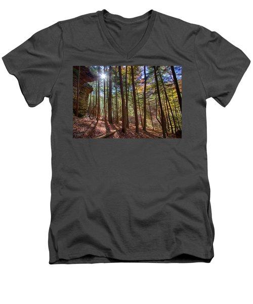 Evening Shadows Men's V-Neck T-Shirt