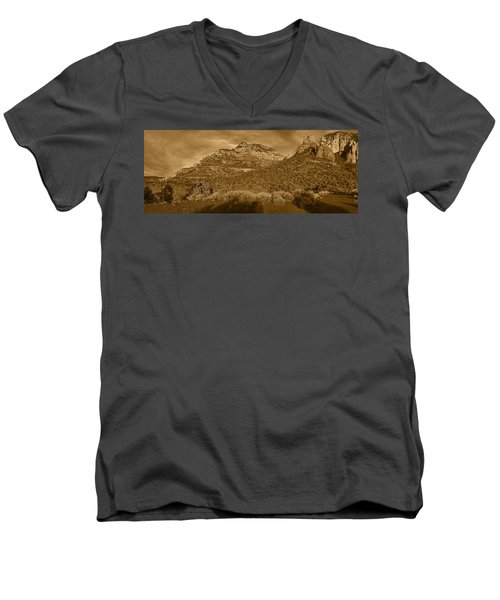 Evening Shadows Pano Tnt Men's V-Neck T-Shirt