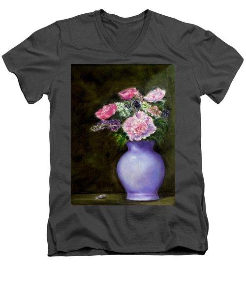 Evening Splendor Men's V-Neck T-Shirt