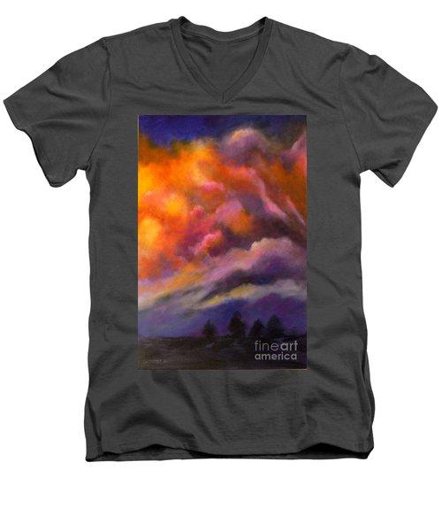 Evening Symphony Men's V-Neck T-Shirt