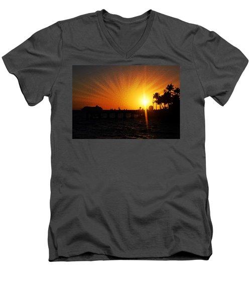 Eventide Men's V-Neck T-Shirt by JAMART Photography