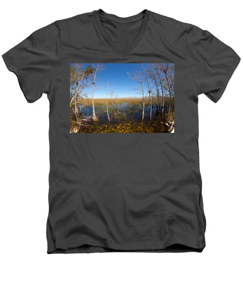 Everglades 85 Men's V-Neck T-Shirt by Michael Fryd