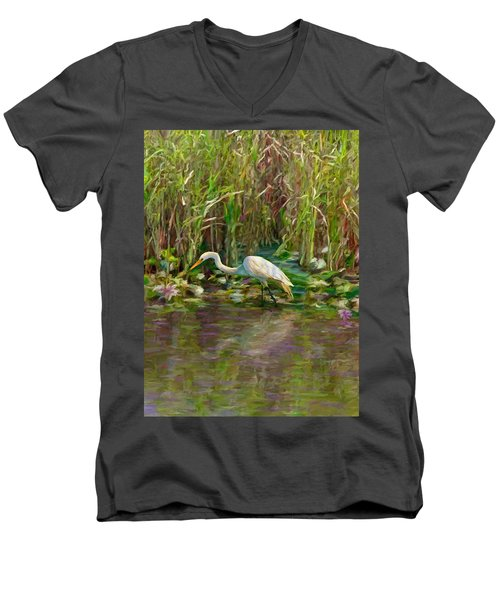Everglades Hunter Men's V-Neck T-Shirt
