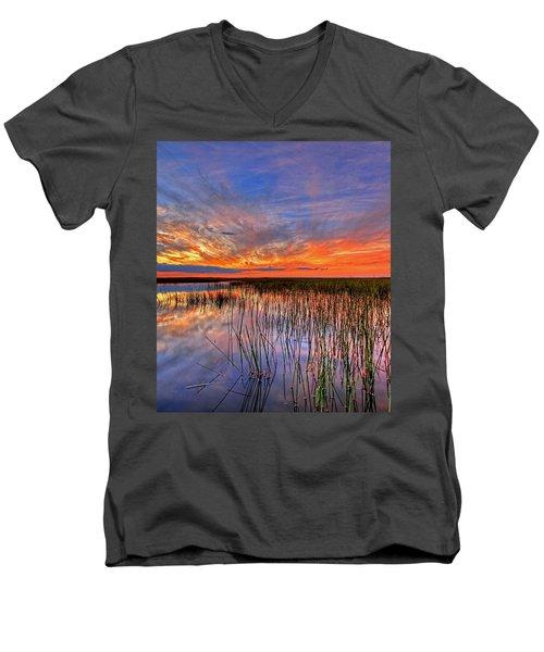 Everglades Sunset Men's V-Neck T-Shirt